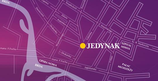 Mapa Bydgoszcz Dom Towarowy Jedynak
